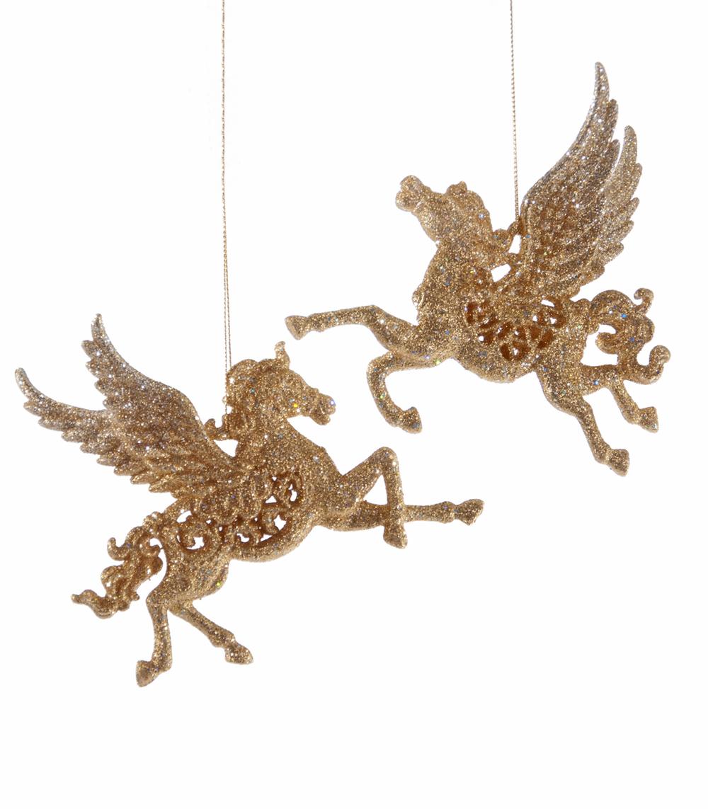 Flying Pegasus Ornament Assortment Of 2  09-693011