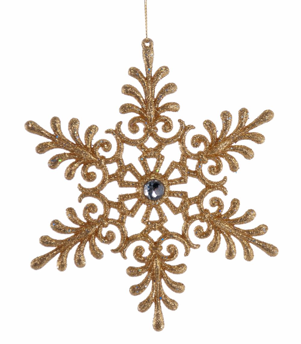 Gold Scroll Snowflake Ornament  09-693013