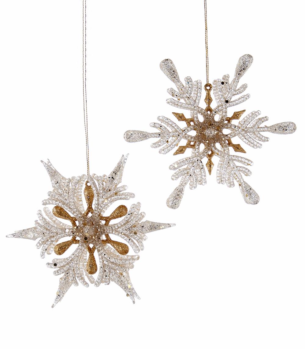 Dimensional Star Ornament Assortment Of 2  18-649028