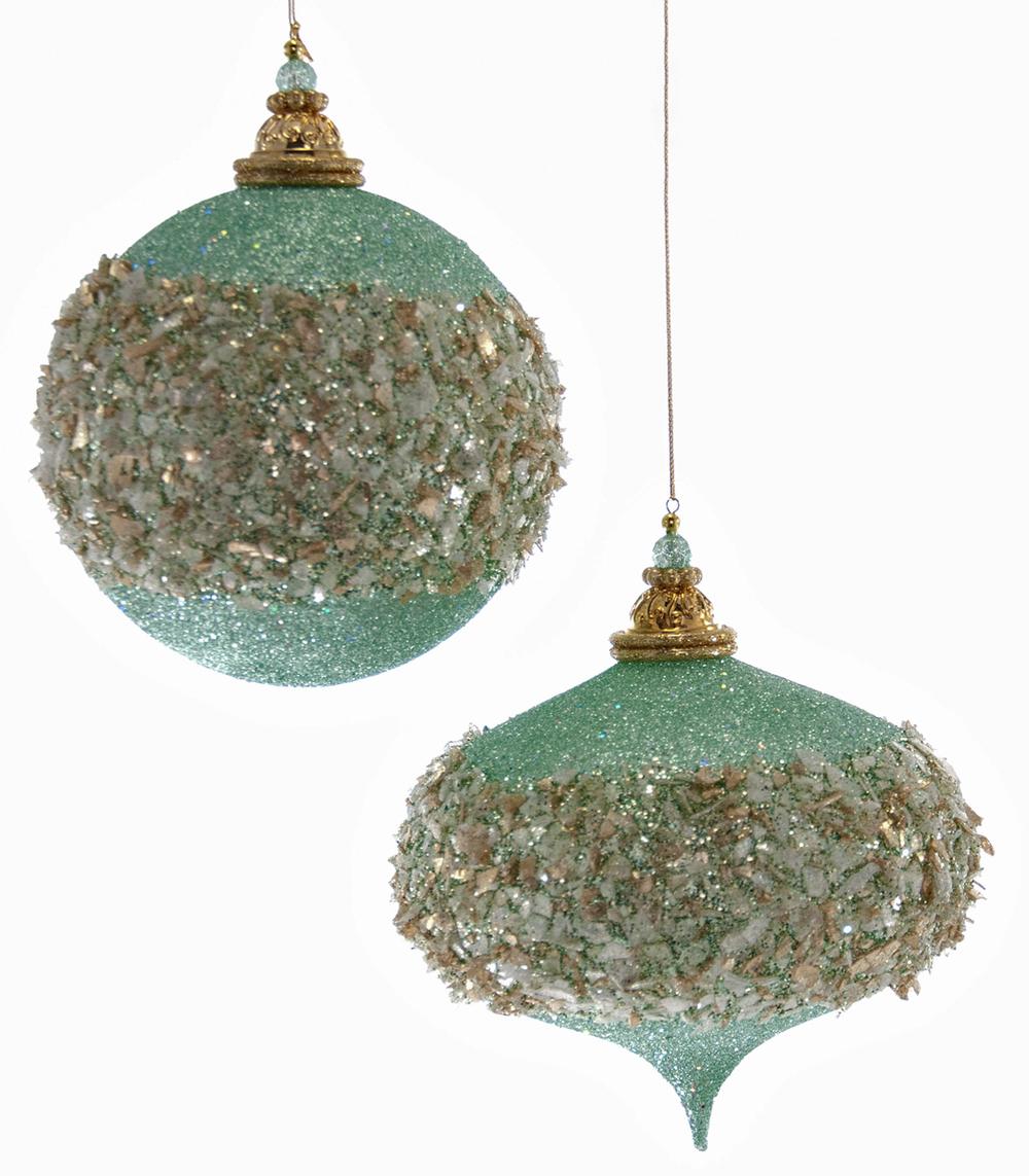 Large Celestial Glittered Ornament Assortment Of 2  09-694003