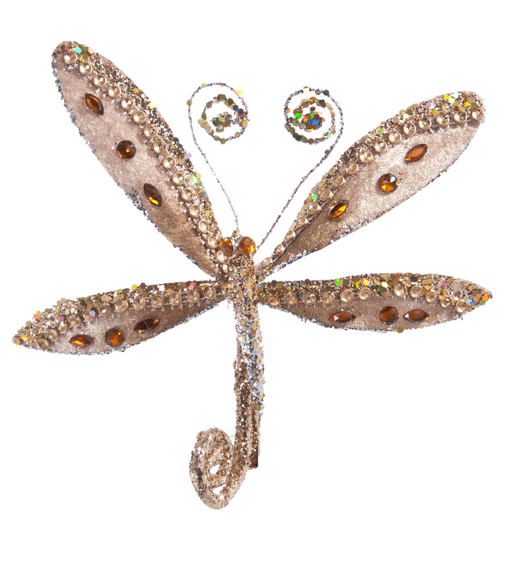 Encrusted Dragonfly Clip  17-617024