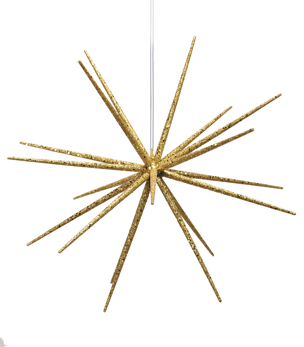 Small 3D Gold Glitter Burst Star  18-83237