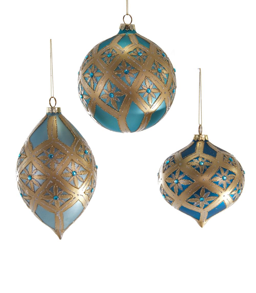 Celestial Bauble Ornament Assortment Of 3  18-643007