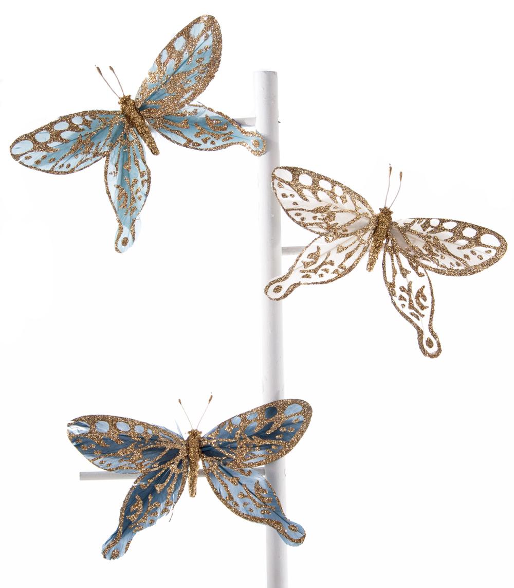 Celestial Butterfly Clip Assortment Of 3  18-648001