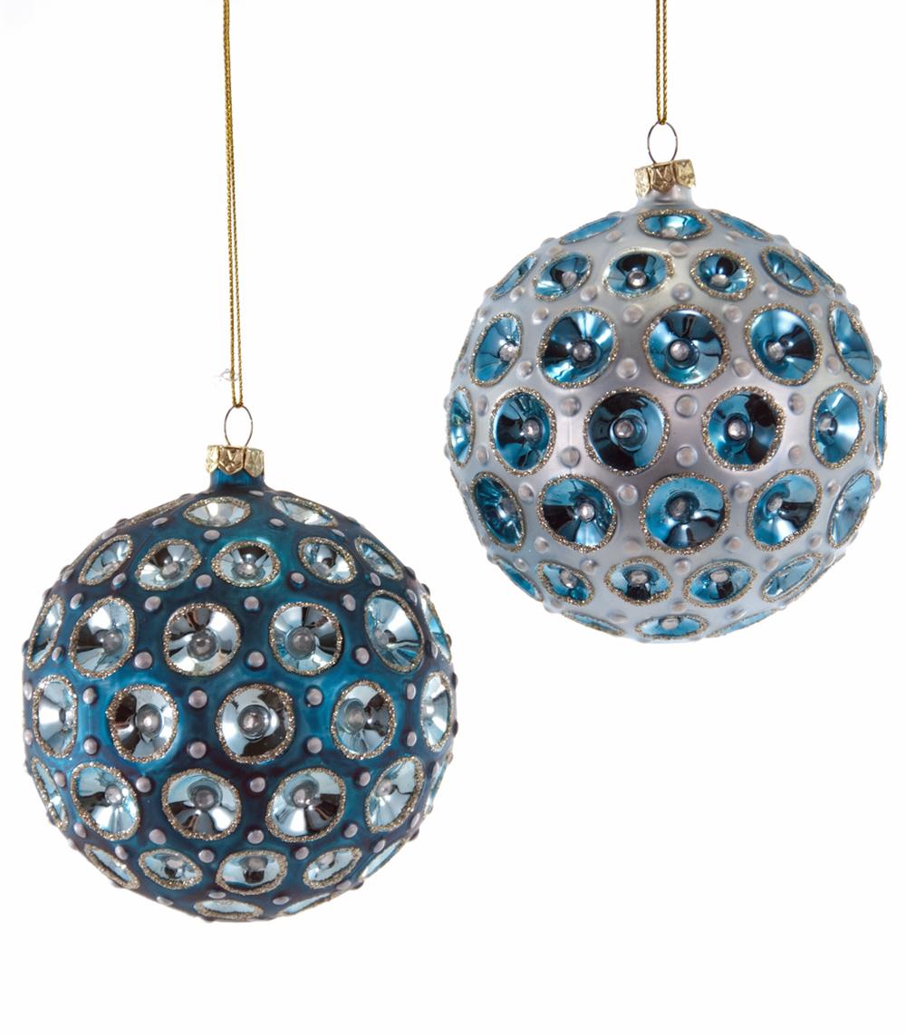 Round Sculpted Ball Ornament Assortment Of 2  18-649027