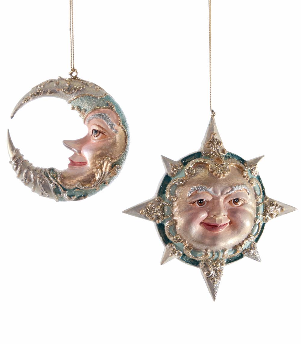 Celestial Sun/Moon Ornament - Assortment Of 2  28-628151