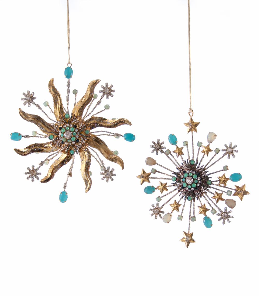 Wire Sun/Starburst Ornament Small - Assortment Of 2  28-628298