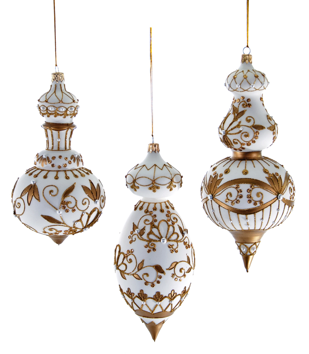 Royal White Christmas Ornaments — Katherine\'s Collection