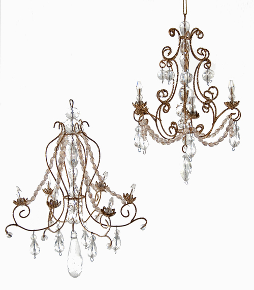 Royal white christmas ornaments katherines collection royal white chandelier ornament assortment of 2 08 683046 mozeypictures Image collections