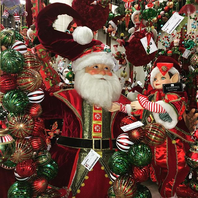 Santa and his elves welcome you to our newly installed headquarters showroom! #Christmas #Santa #holiday
