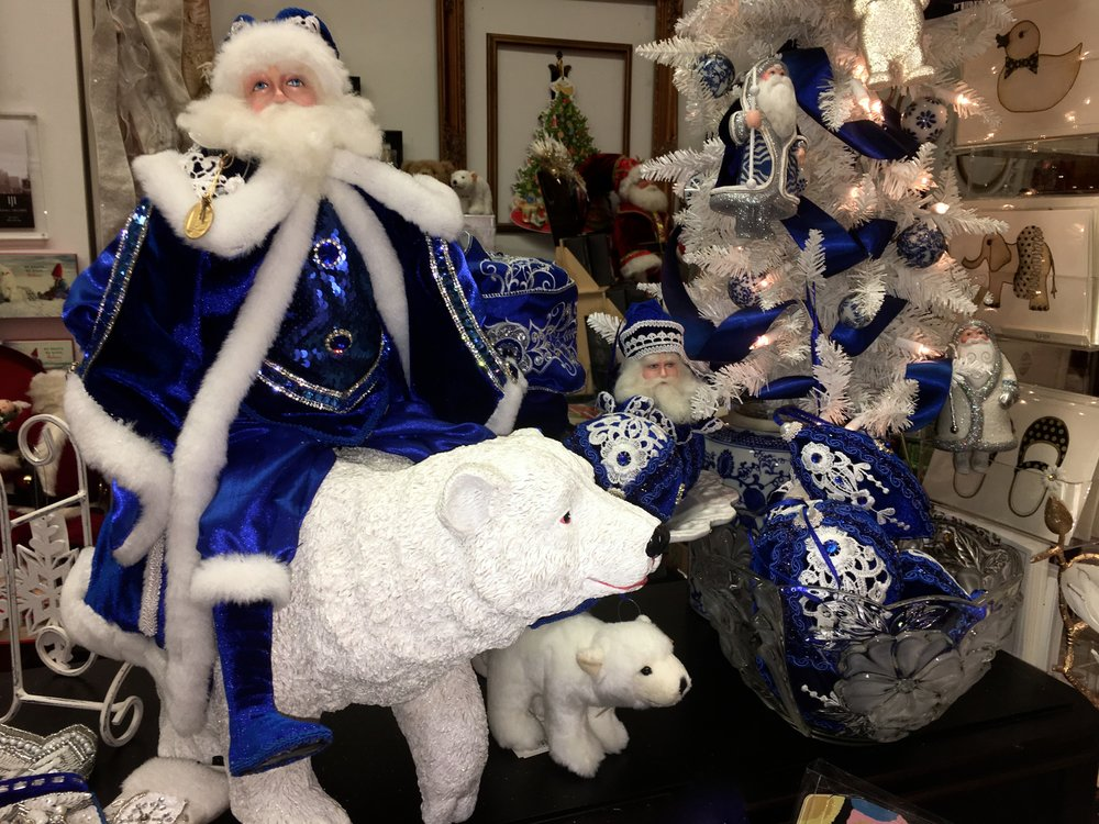 Santa doll on display from Azure Ice Collection