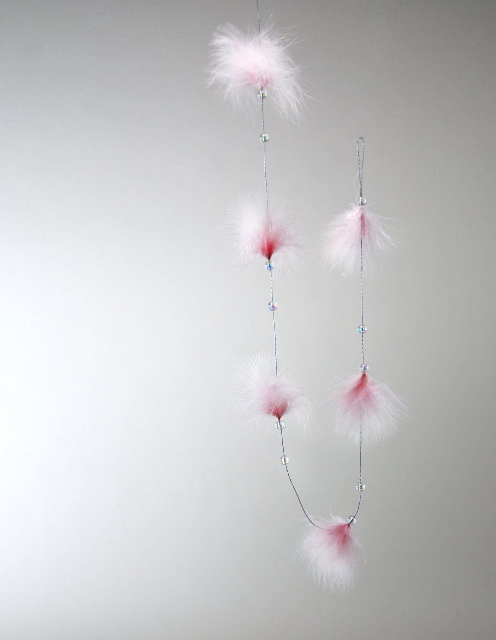 Pink Fifi Feather Garland  18-848481