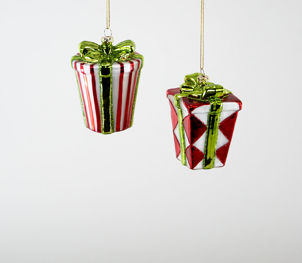 Christmas Present Ornament - Assortment of 2 — Katherine\'s Collection