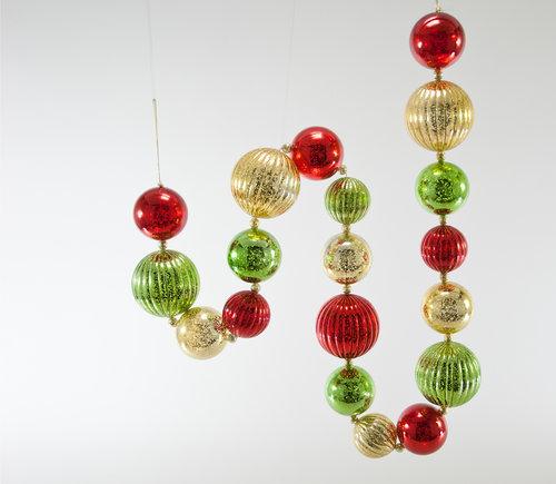 christmas ball garland 6 feet