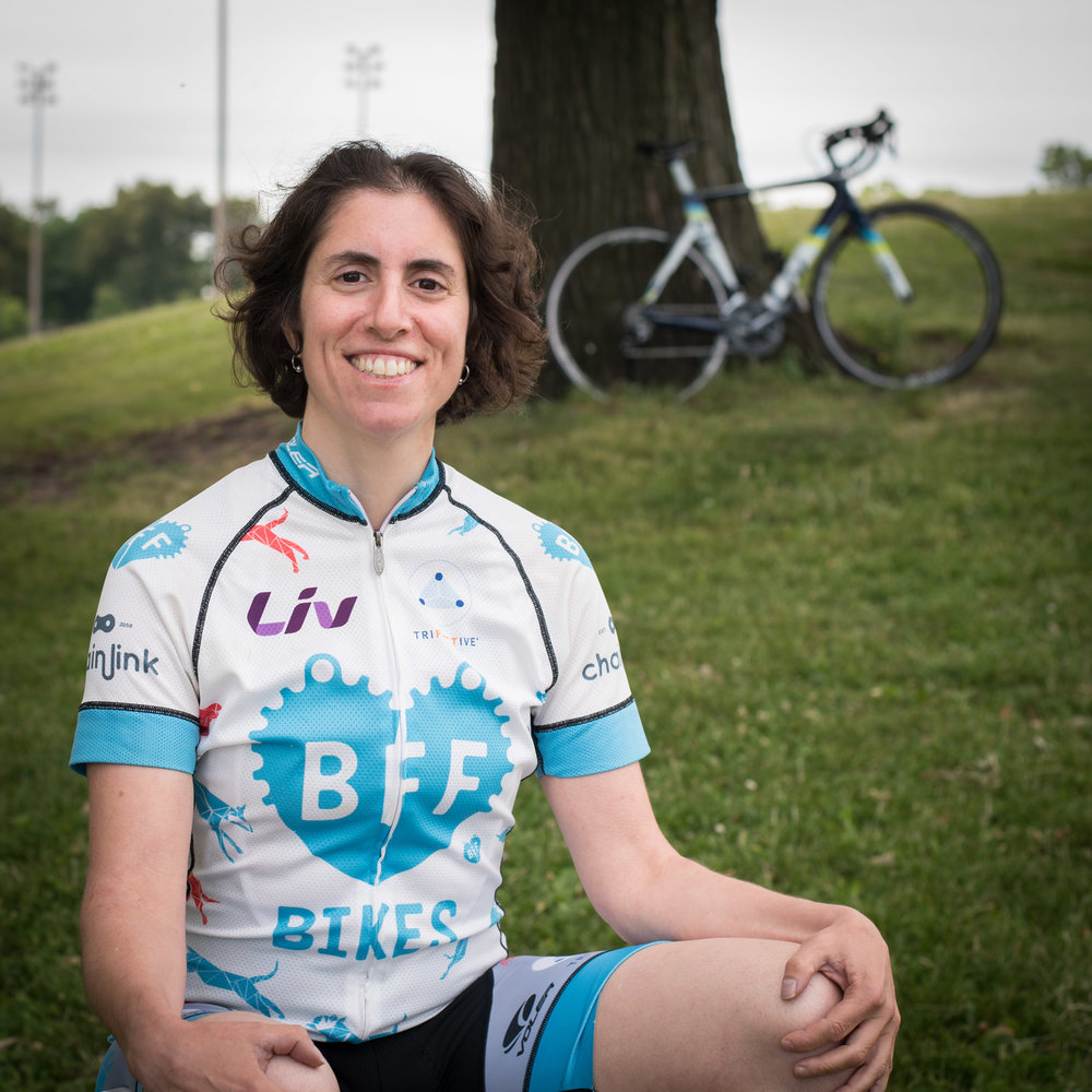 RONIT BEZALEL I've always loved riding my bike, and I somehow stumbled into racing.  My first race was a 10 mile mountain bike race in Wisconsin in 2002. I was hooked.  I've been racing on and off for about 12 years now.  My disciplines are mountain biking and cross. Every race teaches me life lessons, and that's the most valuable thing of all.  I feel so fortunate to be on BFF and around this supportive group of women. It's really quite special. When I'm not biking, I'm a documentary filmmaker and photographer. Random fact: I don't have a cat or dog, but instead, an astounding cacti collection.