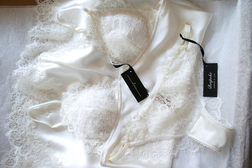 Bridal Silk and Chantilly Lace Slip Set