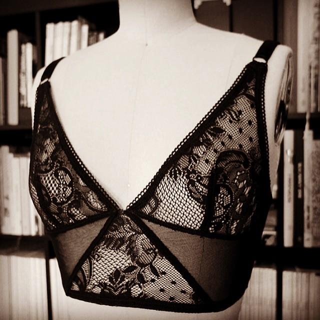 #longline #bra #handmade #lingerie #elmashop Shop this bra here