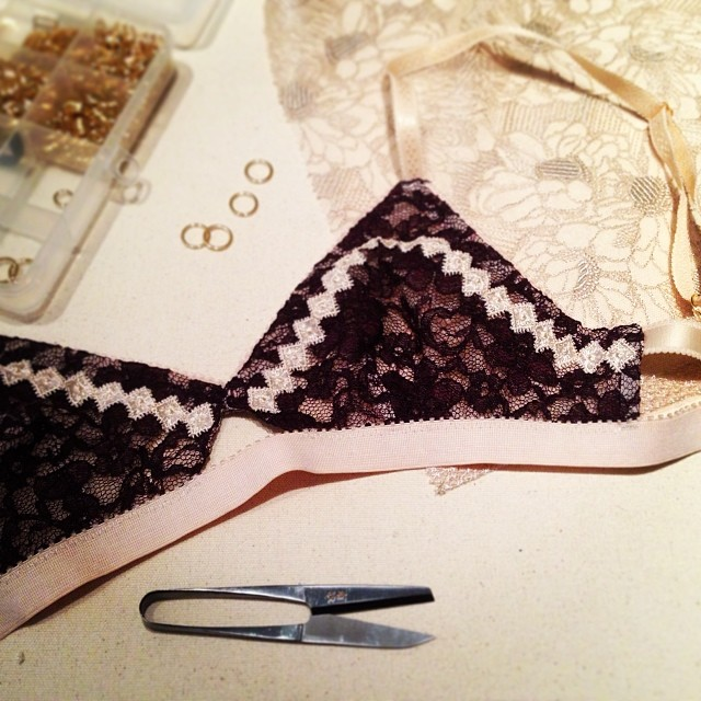Working on.. #handmade #bra #bralette #bralet #lingerie #elmashop