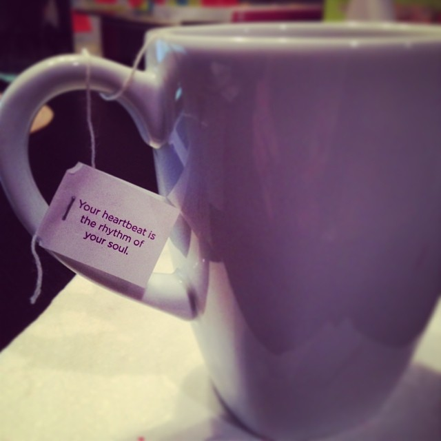 A wise cup-o-tea once said.. #yogitea #soul #mantra