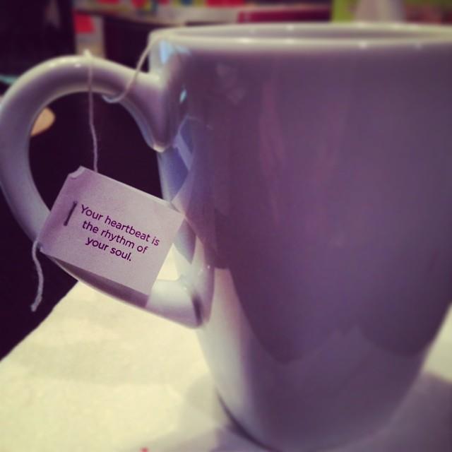 A wise cup-o-tea once said.. #yogitea #soul #mantra