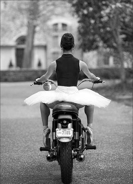 Best of both worlds. Ballet x Moto