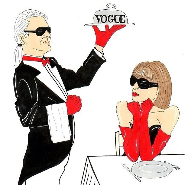 thecoveteur: Let them eat Vogue! Cc @voguemagazine #instagood #photooftheday #tcrealtalk