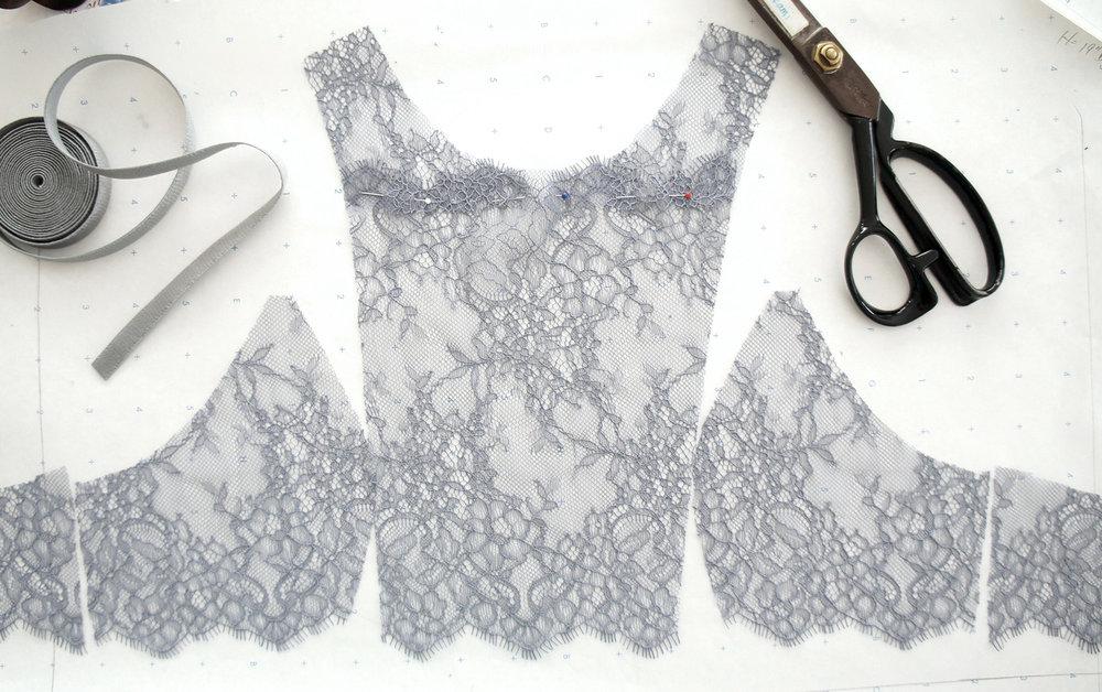 Kitri Gray Lace Bralette