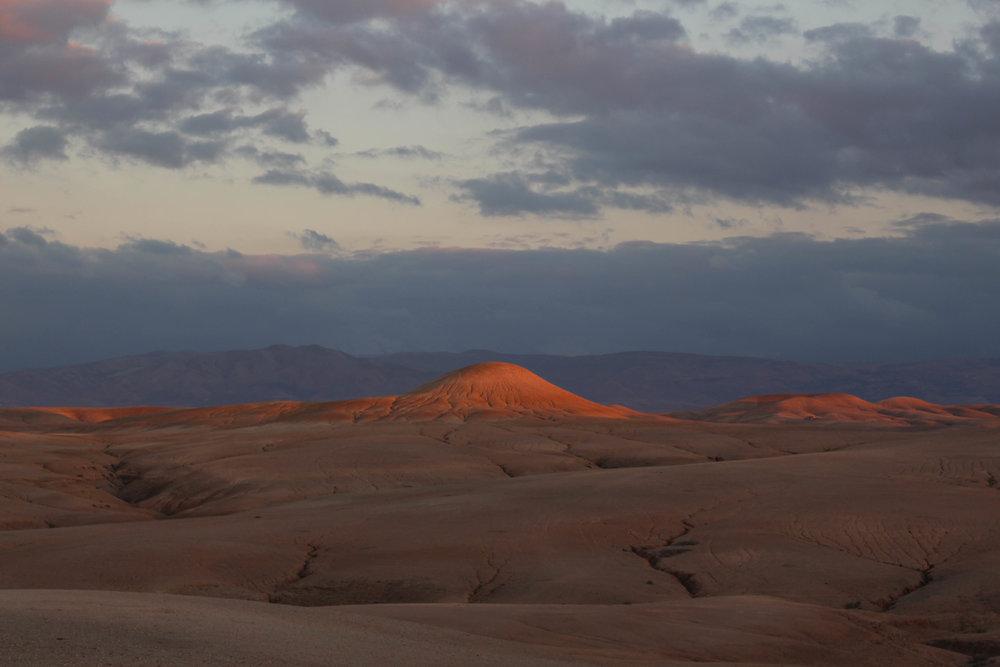 Sunset Agafay Desert Morocco
