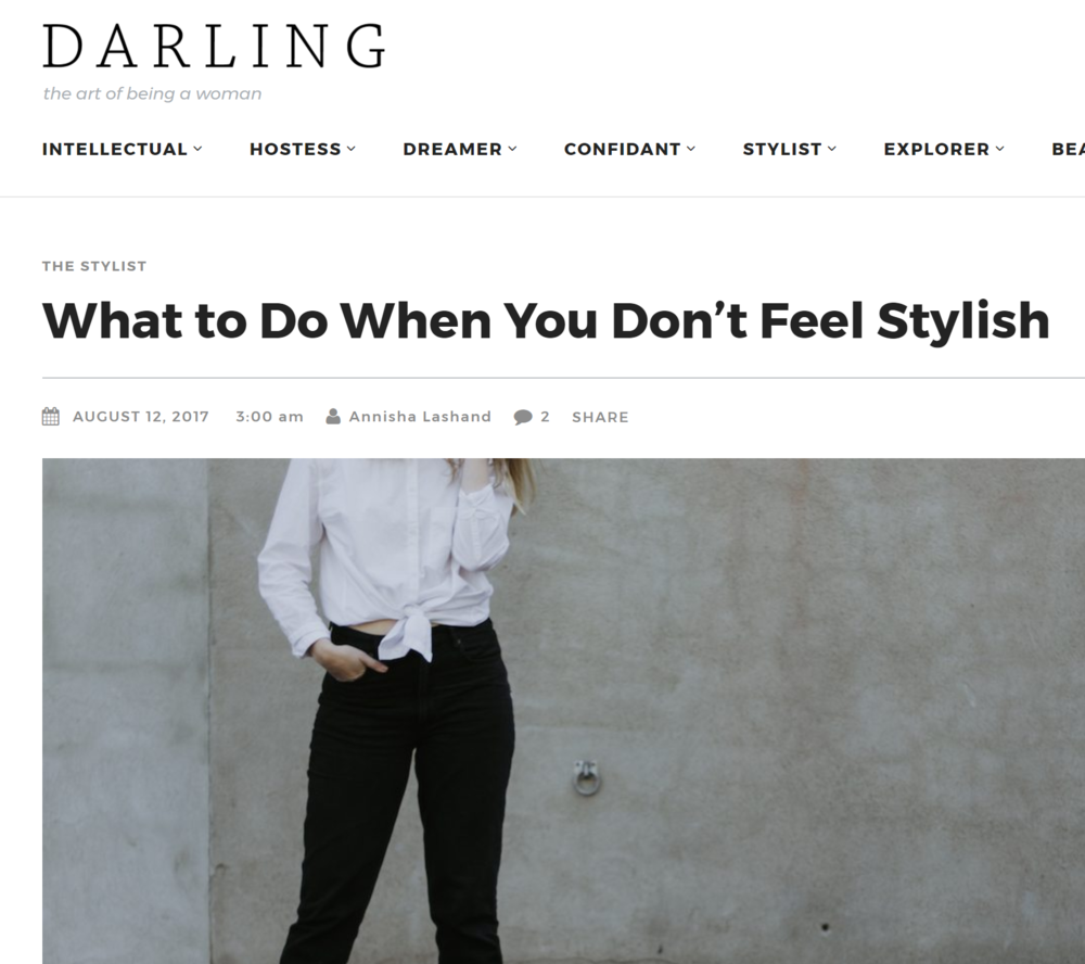 Darling Magazine: What to do when you don't feel stylish