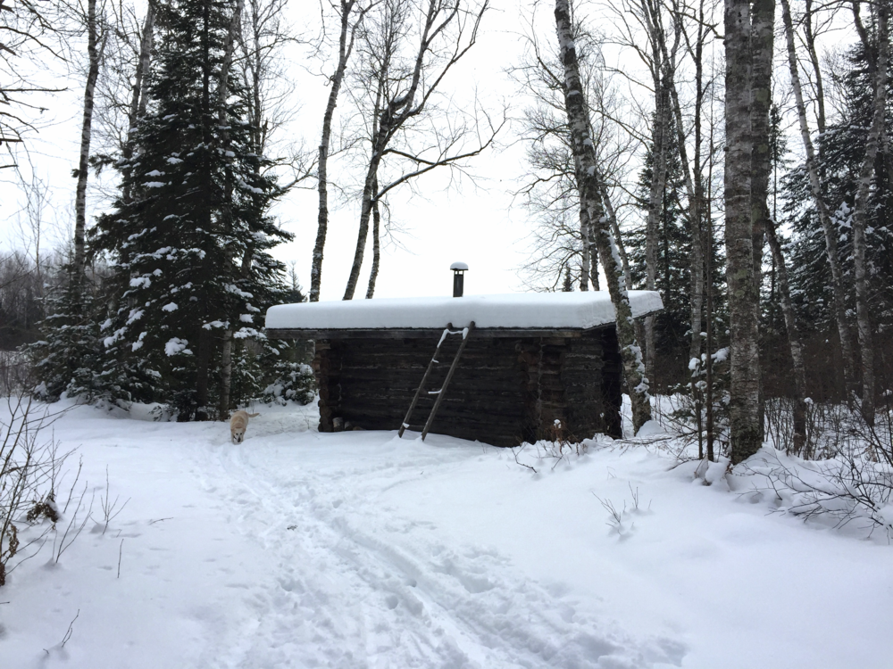 Along the Little Turtle Trailhead, you'll stumble upon the John F. Olson Cabin. It now serves as a warming cabin that anyone can stop by during their travels along the trails.
