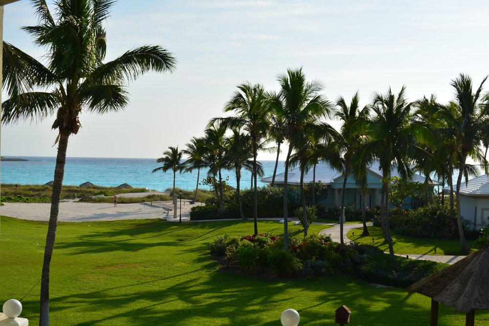 View from our Beach House Oceanview Suite (Sandals Emerald Bay)