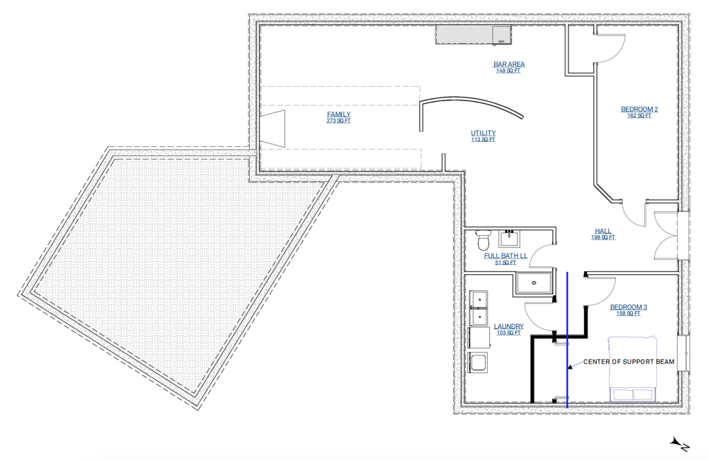 Proposed lower level floorplan