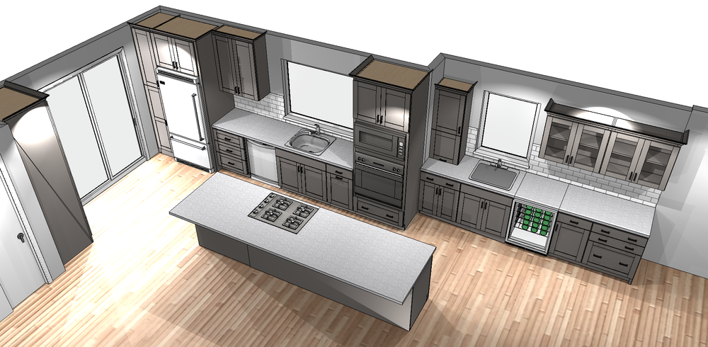 Proposed render by Showplace Cabinets