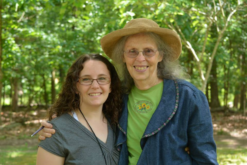 Teri with Ina May Gaskin at The Farm, in Summertown, TN