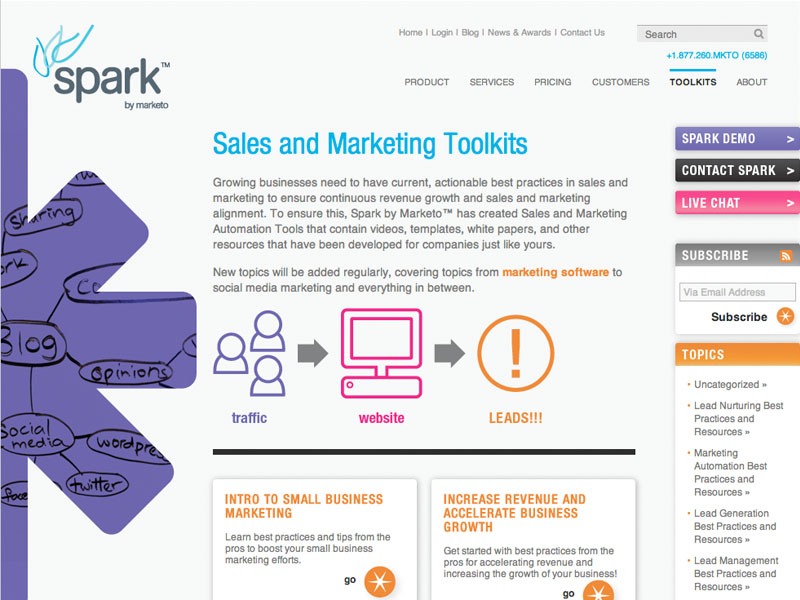 Marketo - Spark Website