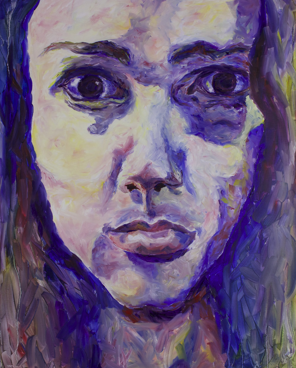 "Sara, 30x32"", Oil on Canvas"