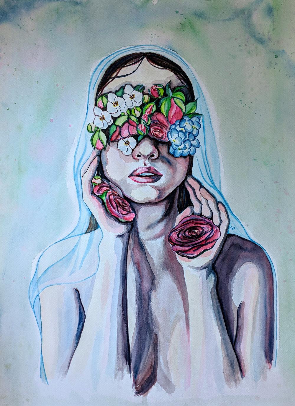 """Watercolor, 30x32"""""""