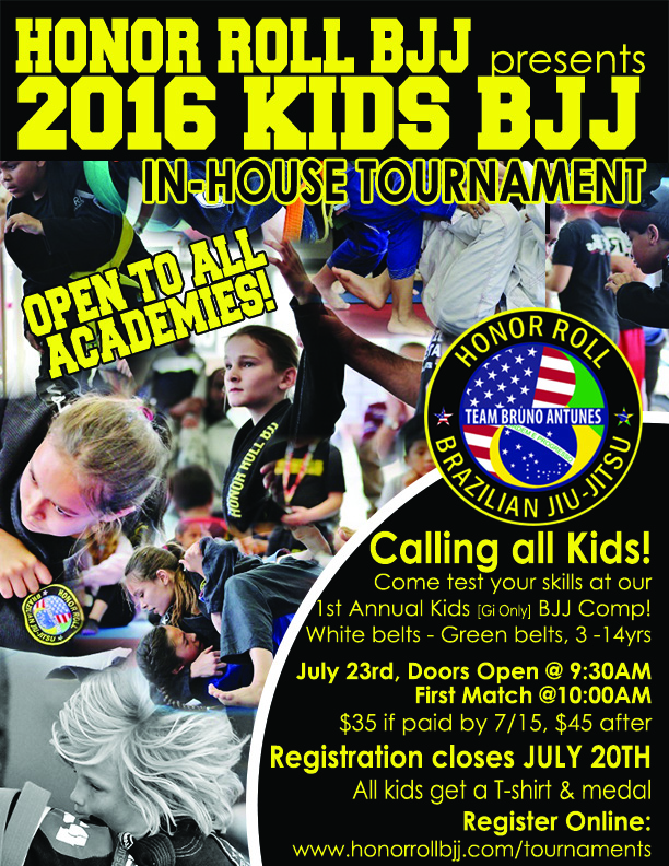Honor Roll BJJ In-House Tournamnet for Kids
