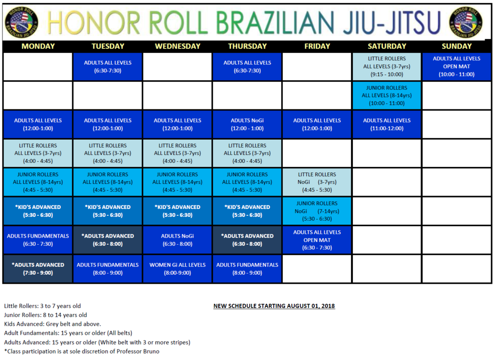 Brazilian Jiu-Jitsu  Schedule serving in Santa Clarita, Saugus, Valencia, Canyon Country, Castaic, and Newhall.