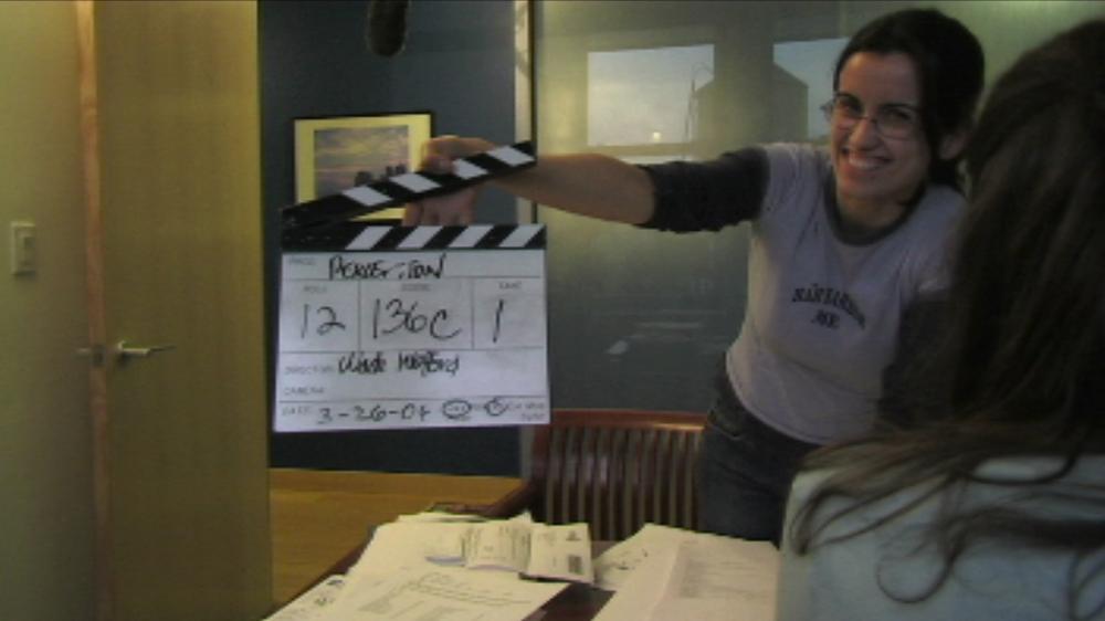 Executive Producer Catarina Costa on Set