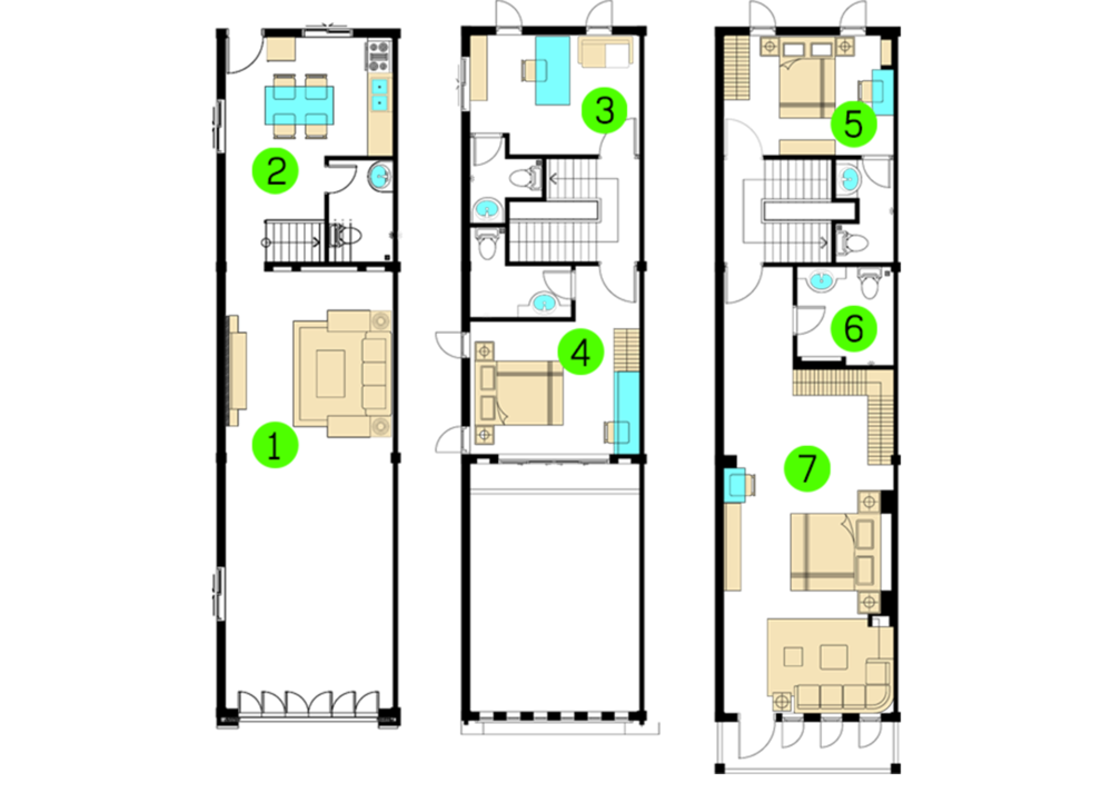 Floor Plan Kitchen In Front
