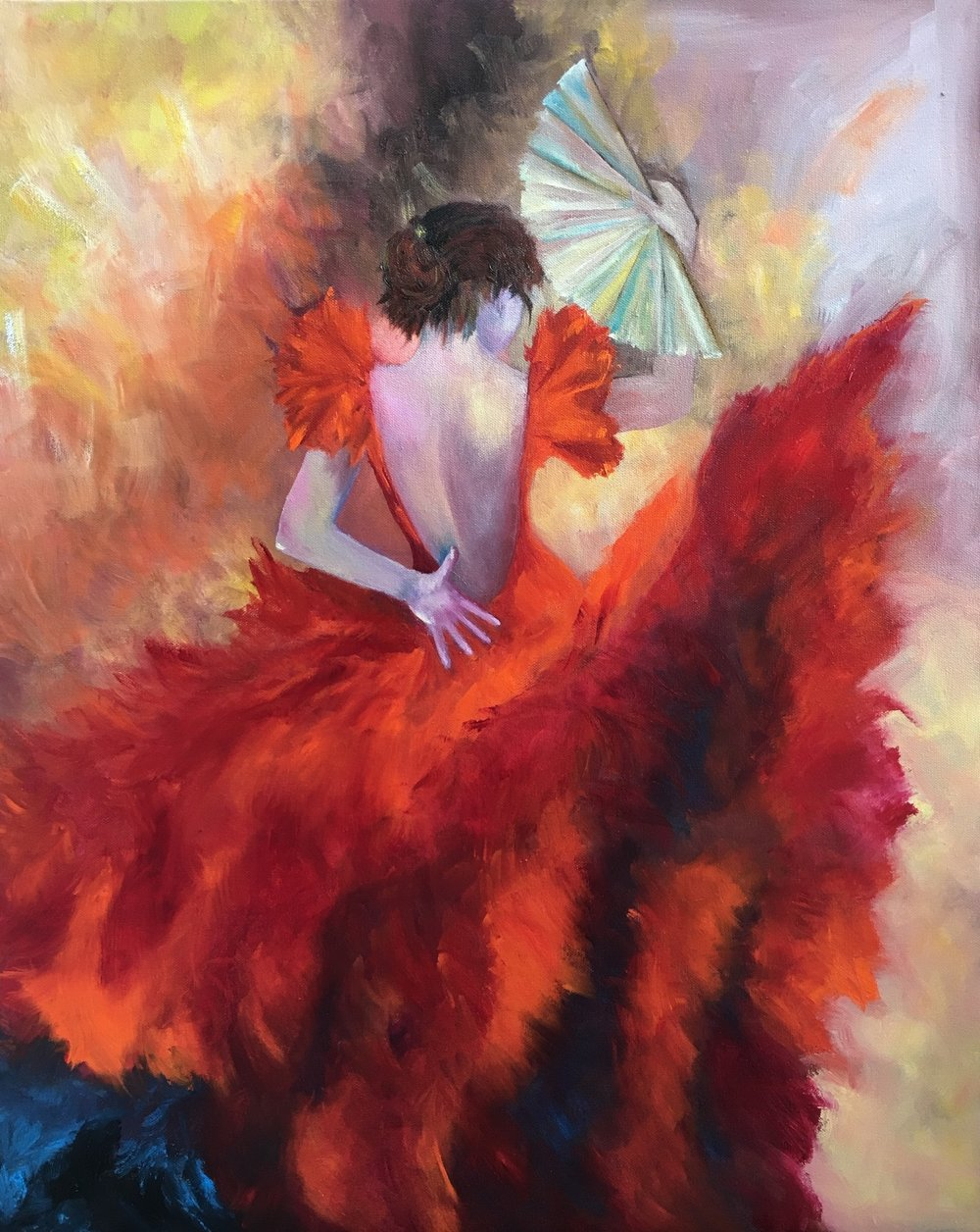"Fan the Flames   30"" x 24""  Oil"