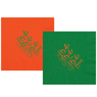 Rattlers always Strike, Strike and Strike Again! Set of 25 luncheon sized napkins. Perfect for tailgating!