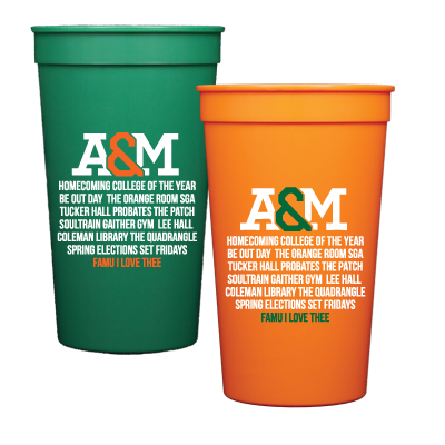 Never forget who you Represent!Set of 6 plastic 22 oz. Stadium Cups. Top Rack Dishwasher Safe.