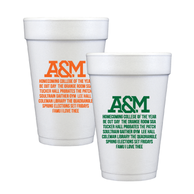 Never forget who you Represent! Set of 12 16 oz. foam cups. Keeps cold drinks cold and hot drinks hot.