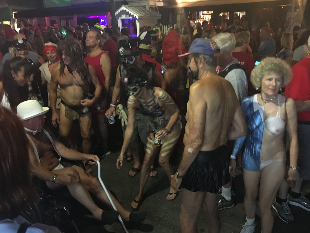 fantasy fest 2016 key west crowd shots pictures body paint nudity
