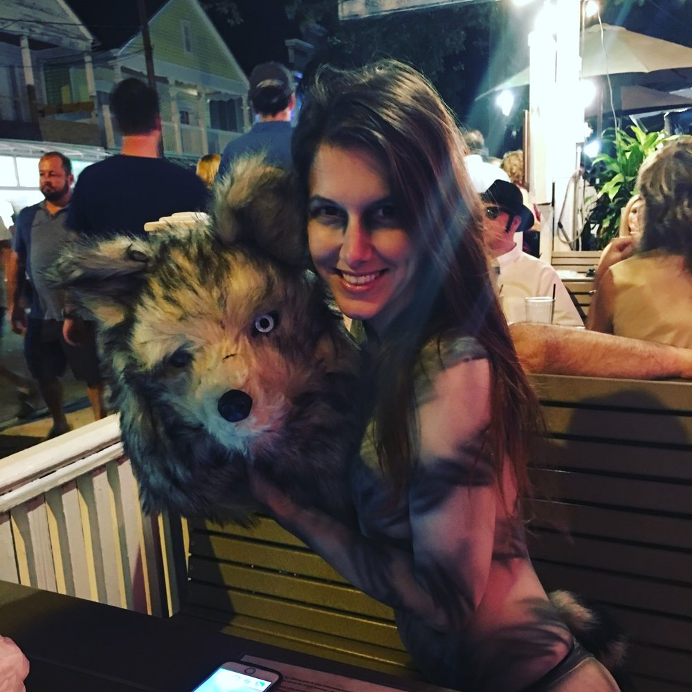 Alessandra Torre in wolf body paint at Fantasy Fest 2016 in Key West - nude with wolf head