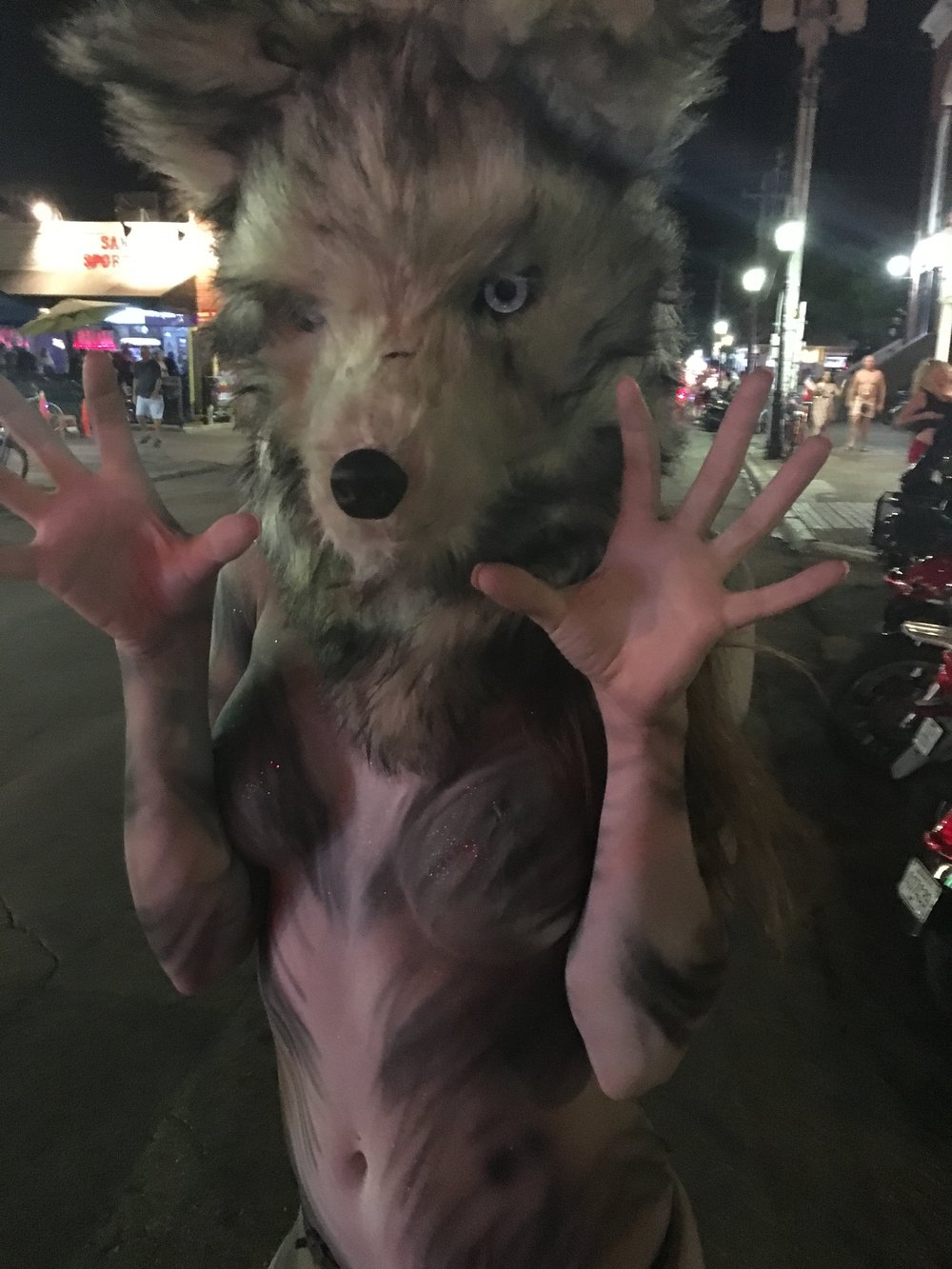 Alessandra Torre in wolf body paint at Fantasy Fest 2016 in Key West - nude