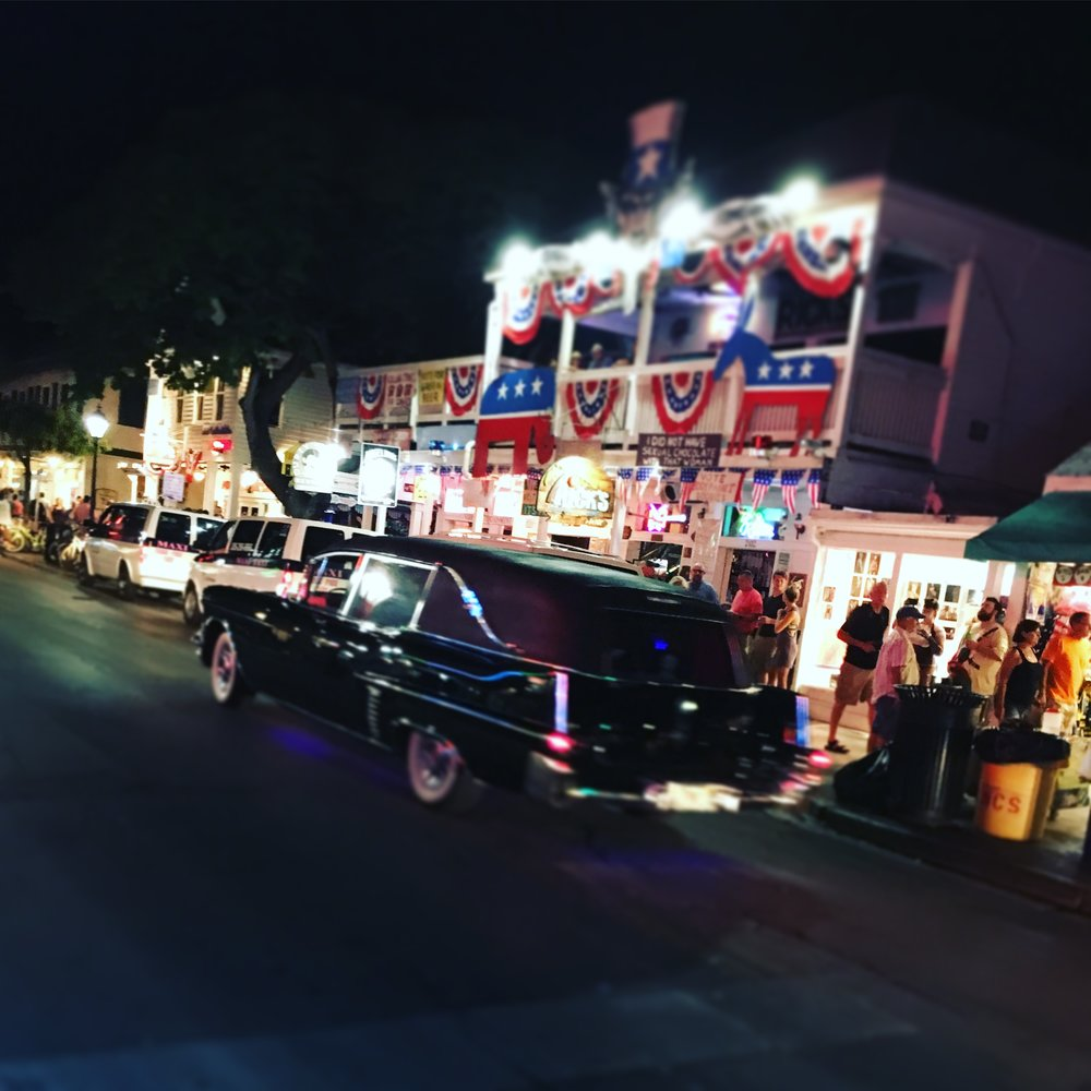 duval street key west hearse fantasy fest 2016 night