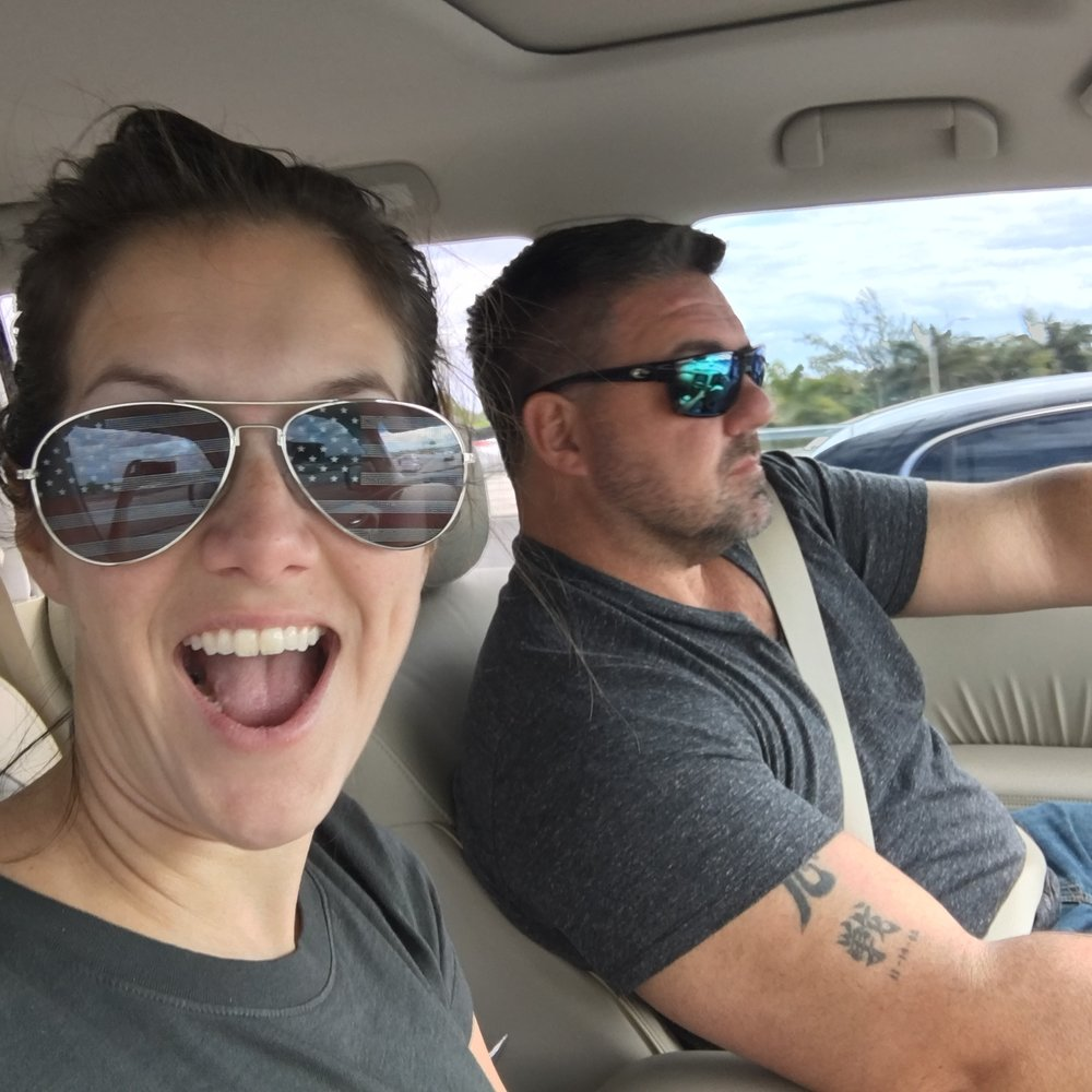 Alessandra Torre and husband on way to key west for fantasy fest - 12 hour road trip!